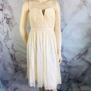 J CREW Silk Chiffon NADIA DRESS Cream Color 10.